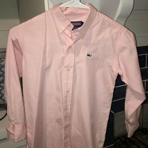 Boys vineyard vine button down shirt